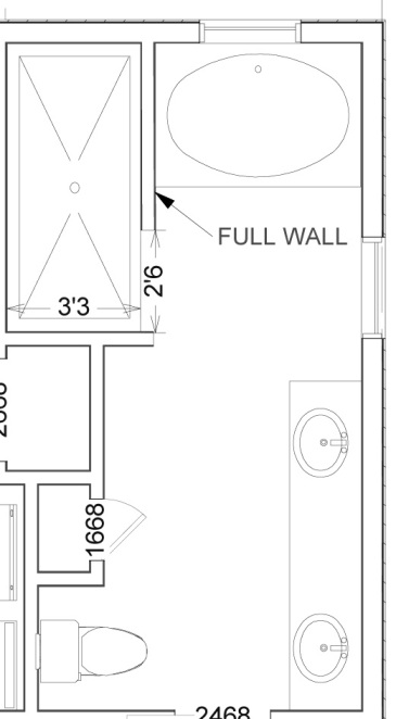 Walk in shower dimensions joy studio design gallery for Walk in shower plans and specs